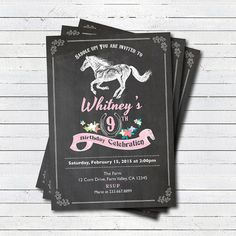 Items similar to Horseback riding birthday party invitation. on Etsy Horse Birthday Parties, Cowgirl Birthday, 13th Birthday, Birthday Ideas, Digital Invitations, Printable Invitations, Invitation Ideas, Wedding Party Invites, Birthday Party Invitations