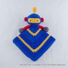 Robot Security Blanket Crochet Pattern