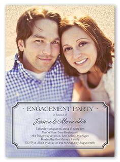 Stylish Affair 5x7 Invitation Card | Engagement Invitations