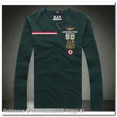 Aeronautica Militare Long Sleeve. Pattuglia Acrobatica Nazionale. KG226TE. Aeronautica  Militare Men s T-Shirts. Green Color - Aeronautica Militare Polo ... 4de409f6c