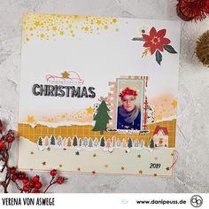 Scrapbooking Layout mit dem Januarkit | von Verena von Aswege für www.danipeuss.de #danipeuss #scrapbooking #memorykeeping #papercrafting #basteln Project Life, Christmas 2019, Scrapbooking Layouts, That Look, Inspiration, Instagram, Amazing, Projects, Cards