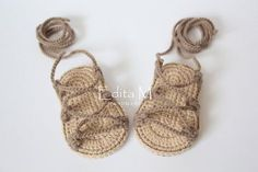 Crochet baby sandals, gladiator,booties, shoes,baby slippers, flip flops, baby boy, baby girl,tan, brown,6-9 months,summer shoes,gift idea