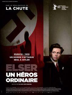 Elser, Un Héros ordinaire est un film de Oliver Hirschbiegel avec Christian Friedel, Katharina Schüttler. Synopsis : Allemagne, 8 Novembre 1939. Adolf Hitler prononce une allocution devant les dirigeants du parti nazi dans la brasserie Bürgerbräu à Munich. Une bombe