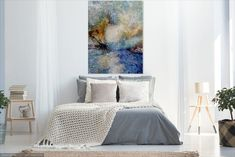Large Abstract acrylic painting Contemporary Modern Abstract Wall Art Abstract Wall Decor Large Canvas Acrylic Painting Modern Decor Home Black And White Wall Art, White Walls, Art Original, Original Paintings, The Great, Oil Painting On Canvas, Painting Art, Garden Painting, Victoria Australia