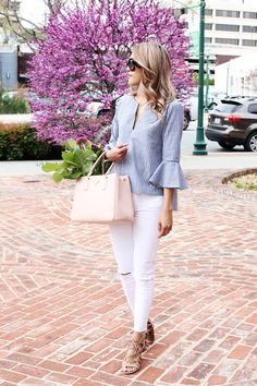 Best How To Wear White Shirt Classy Summer Outfits Ideas Classy Summer Outfits, Mom Outfits, Simple Outfits, Spring Outfits, Cute Outfits, Fashion Outfits, Fashion Tips, Fashion Bloggers, How To Wear Culottes