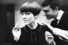 Vidal Sassoon  #Mary Quant  Known for his sleek, mod cuts that spawned a hair revolution in the 1960s, scissor wizard Vidal Sassoon helped women bid adieu to sleeping on curlers, wasting time under hood dryers, and running through can after can of Aquanet.  http://m.vanityfair.com/style/features/2011/02/vidal-sassoon-slide-show-201102#slide=1
