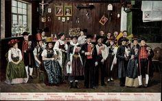 Ansichtskarte / Postkarte Schwarzwälder Bauernhochzeit, Badische Volkstrachten, Renchtal, Hanauer, Gutach, St Georgen, Elztal, Schapbach, Markgräfler Land, Hochschearwald