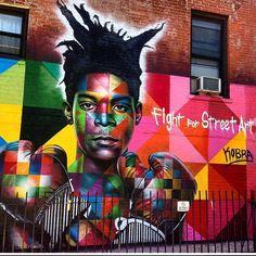 Jean Paul Basquiat by Eduardo Kobra in Brooklyn