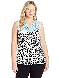 New Calvin Klein Women's Plus Size Sleeveless Cowl Neck Cami online. Find the perfect Ivanka Trump Tops-Tees from top store. Sku ENRI74261LXQL16091