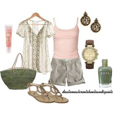 """""""light pink & sage green"""" by enjoytheview on Polyvore"""