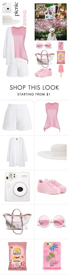 """""""spring picnic"""" by mocimoca ❤ liked on Polyvore featuring Chicwish, Alexander Wang, Kofta, Maison Michel, Kenzo, Chanel and ZeroUV"""