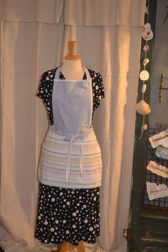 Apron Upcycled from Men's Dress Shirt by AcornHillHome on Etsy, $28.00