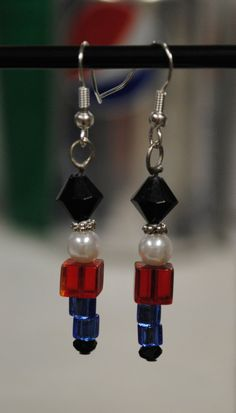 Nutcracker Ballet Beaded Earrings by emilymbongoriginals on Etsy