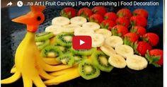 Art In Banana Peacock | Banana Art | Fruit Carving | Party Garnishing | Food Decoration