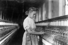 Lewis Hine: Young girl operating machinery in a North Carolina textile mill, Library of Congress, Washington, D. (digital file no. Labor Day History, Us History, Women In History, American History, Margaret Knight, Old Photos, Vintage Photos, Indiana, Gaston County