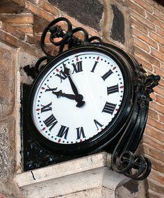 clock at toledo train station toledo castilla la mancha spain