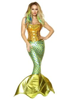 Sexy Sultry Womens Mermaid Siren of the Sea Costume