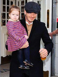 Proud dad David Beckham with daughter Harper - People.com