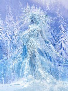 Winter's spirit / L'Esprit de l'hiver Fantasy Art, Creatures, World, Gallery, Nature, Outdoor, Fantastic Art, Spirit, Winter