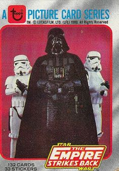 Trading card for The Empire Strikes Back with Darth Vader