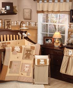 Take a look at this Crown Crafts Eddie Bauer Teddy Bear Crib Set by Crown Crafts on #zulily today!