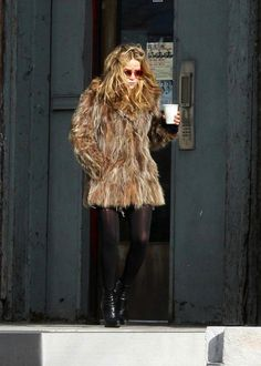 MARY-KATE | OUT IN NYC | FUR COAT + ANKLE BOOTS