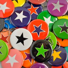 Custom Colors Roller Derby Jammer Star BOTTLE OPENERS; favors??  @Suzanne, with a Z Friedman