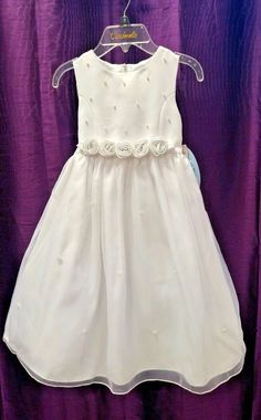 NWT Cinderella by Special Occasions Sz 5 Flower Girl 1st Communion Baptism Dress…