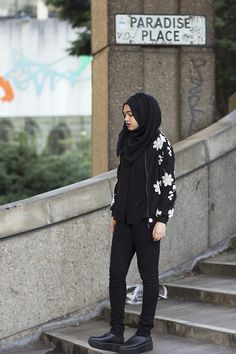 New Look Black Shirt, Enchanted Boutique Black Scarf, Sammydress Embroidered Jacket, H&M Jeans, Sammydress Shoes