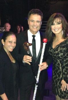 """Two new canes for @donnyosmond by @_BlingLady A rose 4 Beauty&theBeast & the other is a """"Cane-nine"""" 4 Puppy Love ;)"""