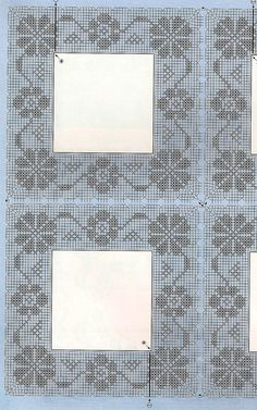 This Pin was discovered by Ask Filet Crochet, Crochet Lace Edging, Crochet Fabric, Quick Crochet, Crochet Tablecloth, Crochet Chart, Crochet Doilies, Knit Crochet, Crochet Designs