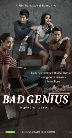 Directed by Nattawut Poonpiriya. With Chutimon Chuengcharoensukying, Eisaya Hosuwan, Teeradon Supapunpinyo, Chanon Santinatornkul. Lynn, a genius high school student who makes money by cheating tests, receives a new task that leads her to set foot on Sydney, Australia. In order to complete the millions-Baht task, Lynn and her classmates have to finish the international STIC(SAT) exam and deliver the answers back to her friends in Thailand before the exam takes place once again in her home…