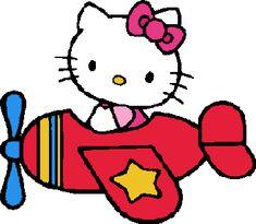 Hello Kitty dans un avion