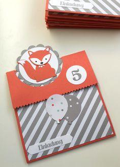 Stampin Up! Foxy Friends Einladung