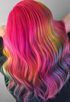 62 Hottest Pink & Rainbow Hair Color Styles for 2018
