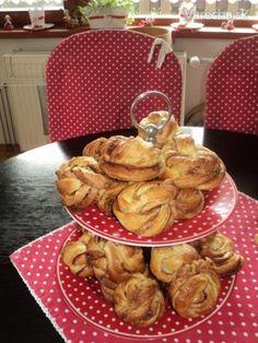 Švédske škoricové uzlíky (fotorecept) Pavlova, Pancakes, Muffin, Breakfast, Desserts, Food, Highlight, Morning Coffee, Tailgate Desserts
