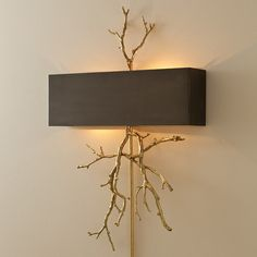 twig sconce, gold eclectic wall sconces