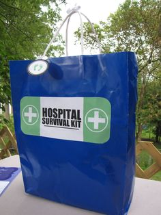 Barefoot in Paradise: Hospital Survival Kit - with a few additional items, plus ideas for a fun note to include