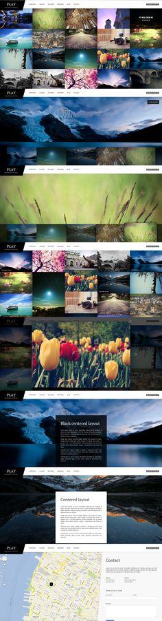 Play  |  Responsive, Full-photo, Portfolio, Wordpress Template  |  themeforest  |  http://playwp.equiet.sk/