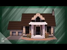 Minecraft: How To Build A Large Suburban House Tutorial ( - Minecraft World Minecraft Villa, Minecraft Shops, Minecraft House Plans, Minecraft World, Modern Minecraft Houses, Minecraft Mansion, Minecraft House Tutorials, Minecraft Houses Survival, Minecraft Room