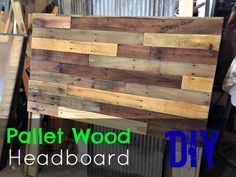 Pallet Headboard DIY - How to make a simple pallet wood head board.