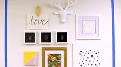 Turn a blank run of wall space into a gallery of favorite prints, photos, and objects. Watch and learn the tricks for creating the perfect ensemble.