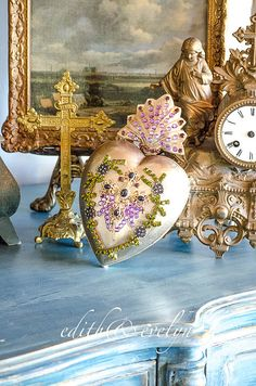HUGE Ex Voto Sacred Heart Hinged Opens by edithandevelyn on Etsy
