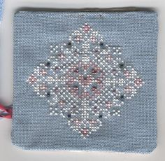 A 'Just Nan' design - Lacy Diamond stitched with beads.