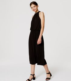 Gathered Halter Midi Dress