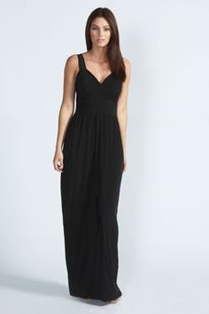 Carly Cross Over Front Slinky Maxi Dress at boohoo.com