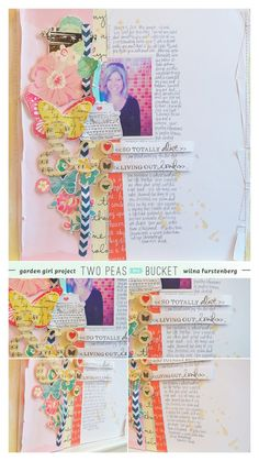 iheartblog: In the mood to scrap. I love all the space for journaling in this pretty design