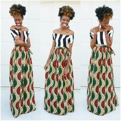 Ankara print maxi wrap skirt ~DKK ~ Latest African fashion, Ankara, kitenge, African women dresses, African prints, African men's fashion, Nigerian style, Ghanaian fashion.