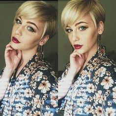 Pixie with long bangs