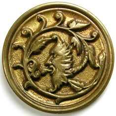 "Lg Sz Antique Brass Button - Detailed green Man Design - 1 & 3/8"" | eBay"